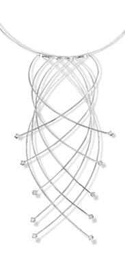 Crossed Wires platinum neckpiece